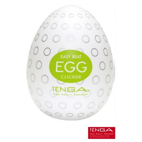 Masturbateur Tenga EGG Clicker - nervures arrondies