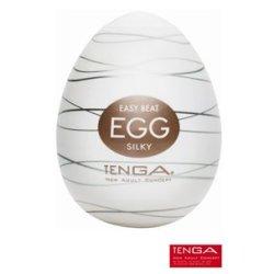 Masturbateur Tenga Egg Silky - nervures internes entrelacées
