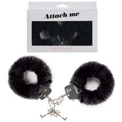 Menotte Attach Me-Velour Noir