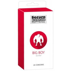 Preservatifs XXL par 24 Big Boy Secura