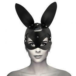 Masque en cuir Vegan Avec Oreilles De Lapin Coquette